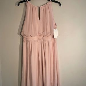 Adrianna Papell Midi Pink Dress NWT